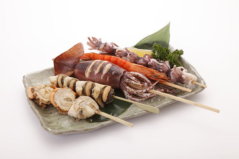 海鮮串焼(5本)
